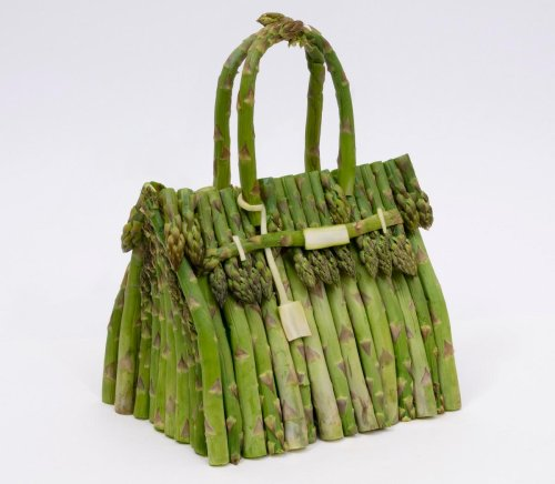 Not from crocodile or ostrich leather but these Hermes Birkin bags have been made using bananas, cabbage and cucumbers