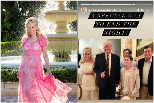 Just because she posed for a picture with Donald Trump at a Mar-a-Lago dinner, this billionaire Canadian socialite swiftly went from being the country's fashion fairy godmother to being pushed out of society.