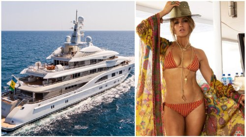 Complete with a hammam, a helideck, an outdoor cinema, a massive pool, and more – Take a look inside the uber-luxurious 280-foot long megayacht where Jennifer Lopez celebrated her birthday with Ben Affleck.