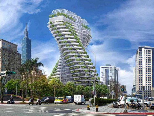 23,000 trees, hanging gardens and waterfalls – Taipei's futuristic smog-absorbing skyscraper is a star of sustainable architecture