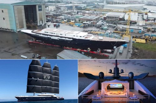 This is not an under-construction cruise ship but the personal yacht of space-faring Jeff Bezos – The $500 million superyacht will have three masts, three decks and will be the finest and largest in the world.