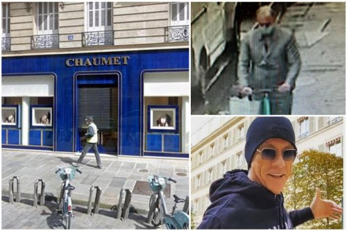 A man robbed $3.5 million of jewels from a high-end Paris jewelry store and casually rode away on a $400 electric scooter all while potential witnesses were distracted by the visit of Jean-Claude Van Damme to a nearby optician