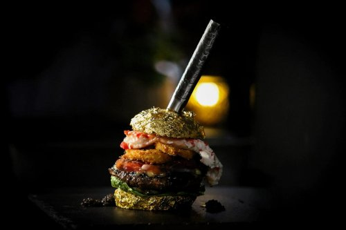 Not your every day Big Mac – The worlds most expensive burger costs $6,000 and is made from Beluga caviar, saffron-infused gold-leafed buns and is served with Dom Perignon battered onion rings