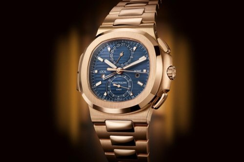 Patek Philippe introduces the Nautilus Travel Time Chronograph 5990R in rose gold