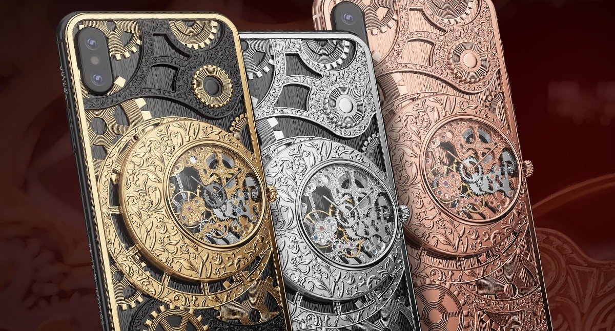 This $6,000 iPhone XS has a mechanical skeleton watch it's case