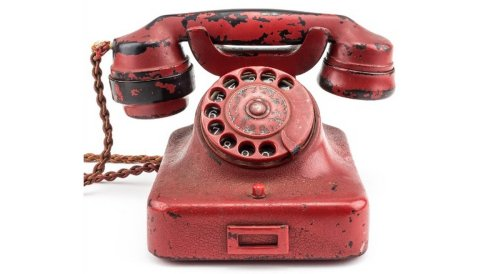 Hitler's personal red wartime telephone is getting auctioned
