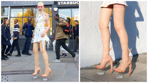 Costing $10,000 a pair these morbidly ugly heels have a flesh-like appearance