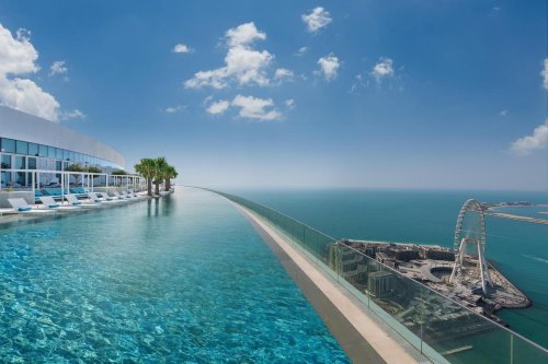 Move over Marina Bay Sands, Singapore. At 965 feet up and offering unparalleled views of the Arabian ocean this Dubai hotel has the tallest infinity pool in the world