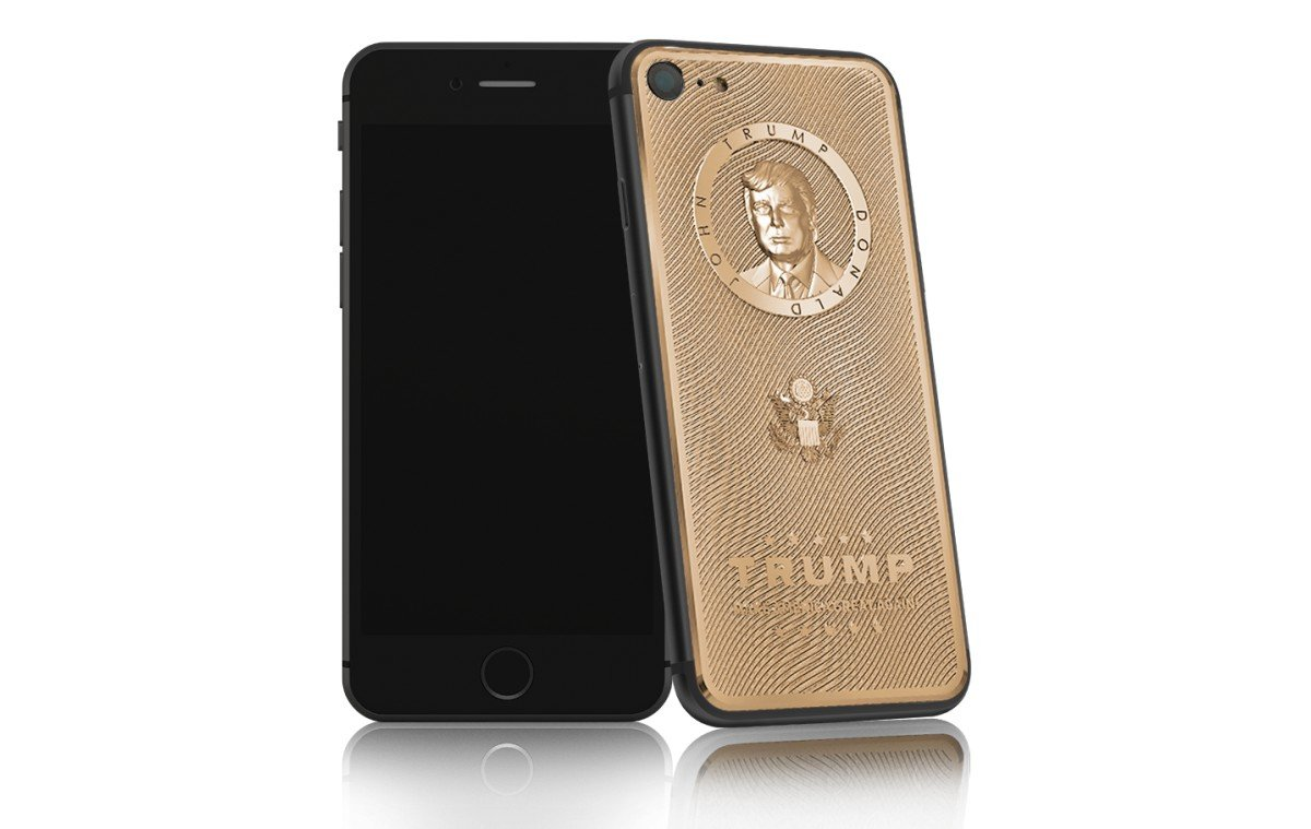 Check out the Gold Plated iPhone 7 that comes with an exclusive Donald Trump engraving - Luxurylaunches