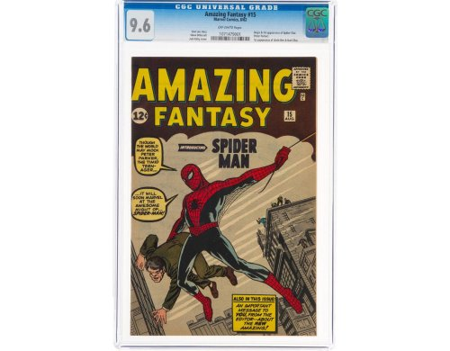 Record-Breaking: First Spider-Man Comic, Amazing Fantasy No. 15, sells for a whopping $3.6 million