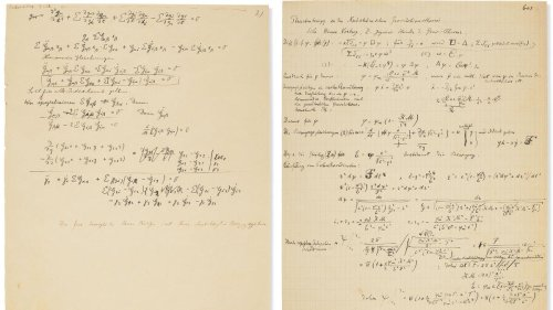 A 54-page autograph manuscript written by Albert Einstein and Michele Besso is to fetch $3.55 million in auction