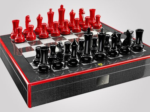 $2,000 Ferrari carbon fiber chess set lets you checkmate in style : Luxurylaunches