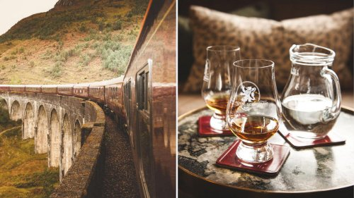Experience Scotland from an ultra luxury train that is complete with a bar, a spa carriage and of course plenty of whiskey tastingss
