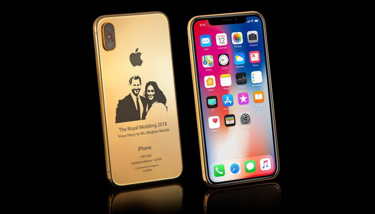 Inspired by the Royal wedding this 24K Gold iPhone X costs $4,000 - Luxurylaunches