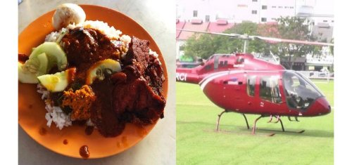 Craving his favorite dish in the lockdown – A man in Malaysia actually hired a helicopter to pick up packets of a $3 rice delicacy.