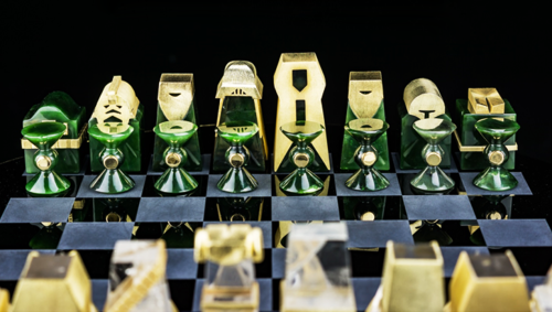 Join the Rebel Force to take on the Dark Side with this handcrafted Star Wars chess set