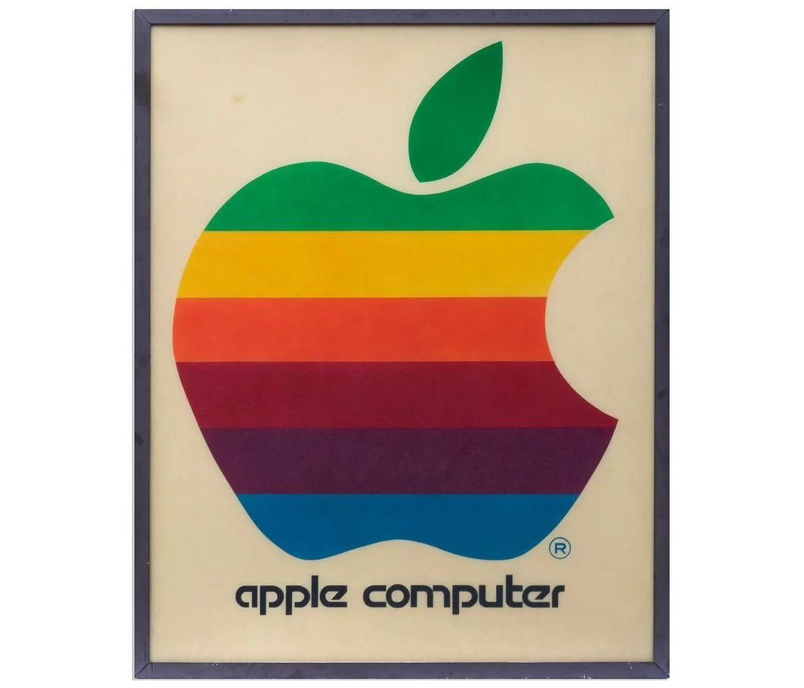 Vintage Apple retail sign with its iconic rainbow logo may fetch over $20,000 in auction
