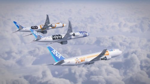 Come fly Star Wars style with ANA's new R2-D2 and BB-8 styled jets