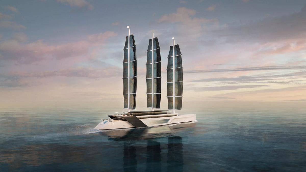 With an infinity pool, jacuzzi, modern interiors and more – Powered by the wind this 80m yacht is the most environmentally friendly superyacht ever built