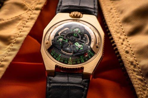 Urwerk releases a C-3PO-inspired UR-100 Gold Edition watch to celebrate Star Wars Day