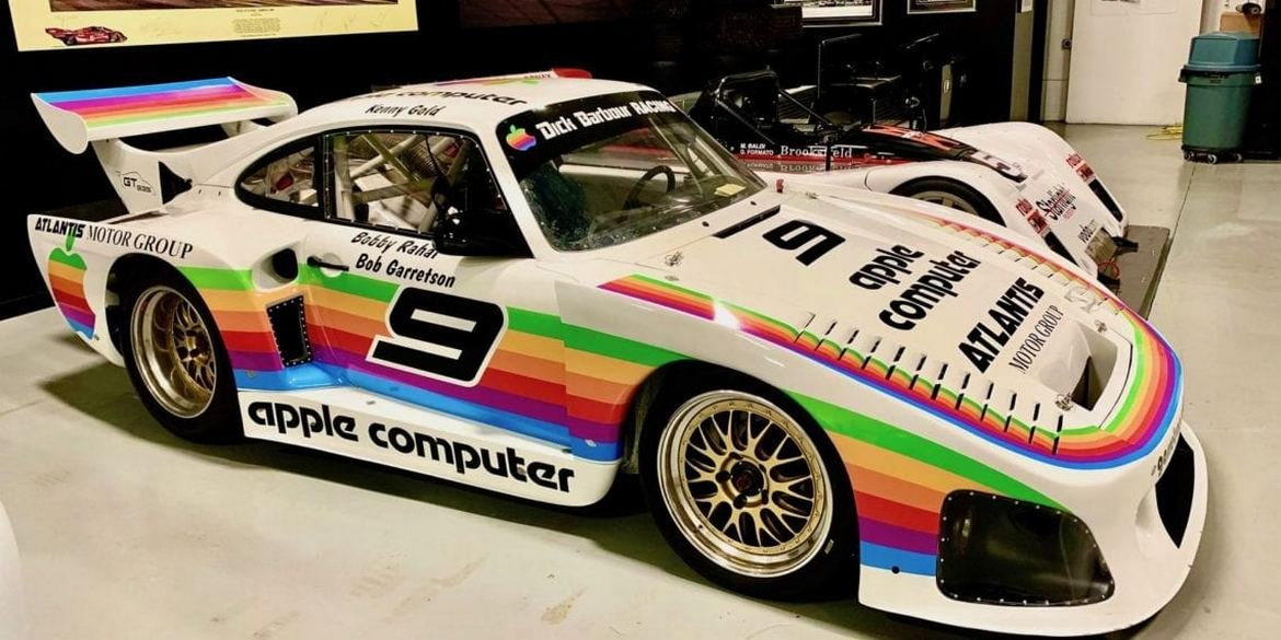 A replica of the Apple-themed Porsche 935 racecar is up for sale at $499,999