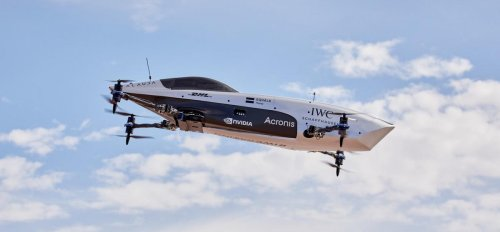Formula One of the skies – The world's first electric flying racing car that goes from 0 to 62 mph in just 2.8 secs takes to the sky for the very first time ahead of its inaugural race later this year.