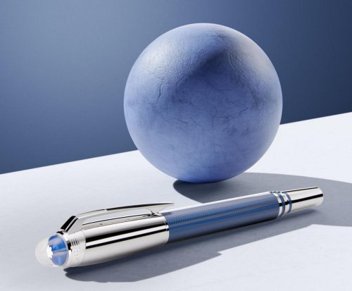Montblanc's new StarWalker Blue Planet collection of writing instruments celebrates the beauty of Earth's blue oceans experienced from space