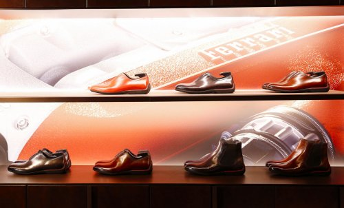Berluti has collaborate with Ferrari for a limited edition shoe collection