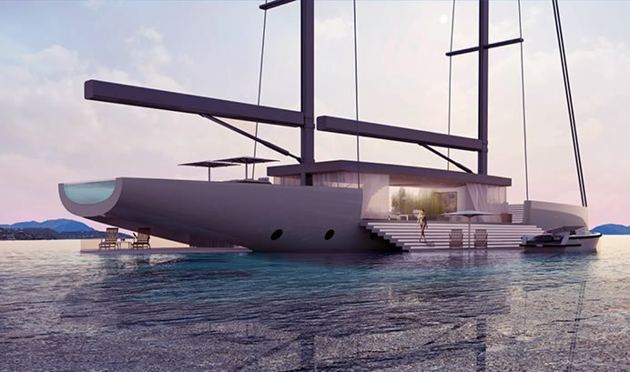 Luxury yacht concept 'SALT' is designed to give an unobstructed view of the surroundings - Luxurylaunches