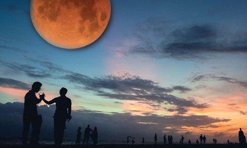 Super Flower Blood Full Moon Eclipse Tonight