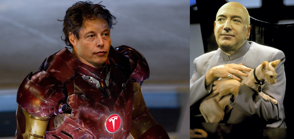 Elon Musk Reacts to Jeff Bezos' Nonstop Fight to Win Over NASA Moon Lander Contract