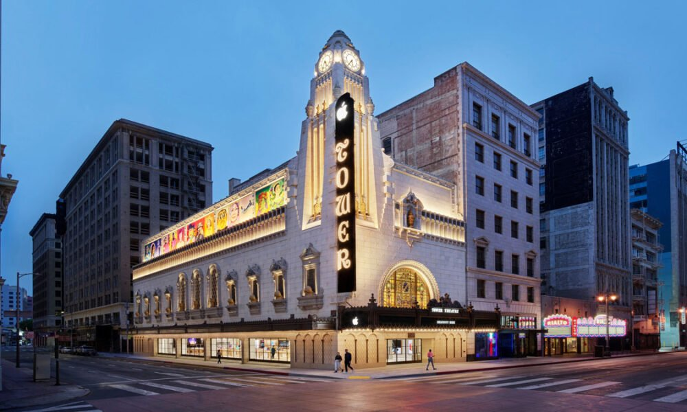 Apple Store Opening in Sumptuously Restored Tower Theater in LA