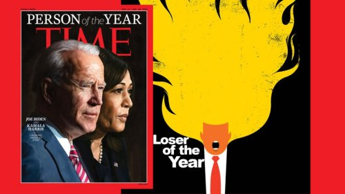 Joe Biden & Kamala Harris are Time's Person of the Year and Trump lost. Twice.