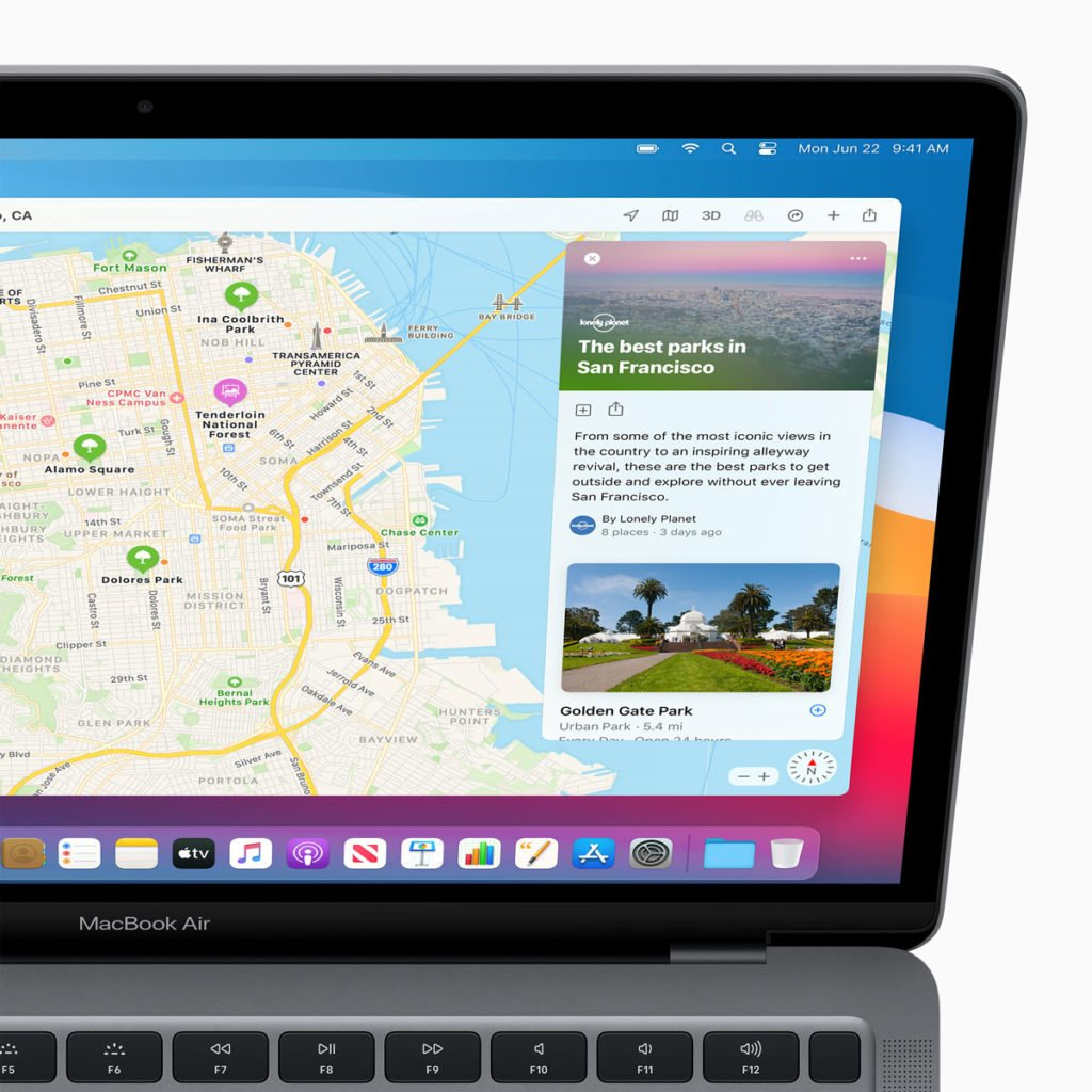 MacOS 11 Big Sur includes redesign for Maps and brings big new features