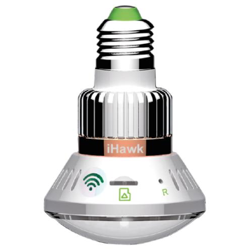 Telecamera HD iHawk Wi-Fi in una lampada LED da 3W controllabile da smartphone