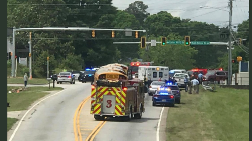 Student jumps from school bus onto moving truck on Georgia highway, cops say