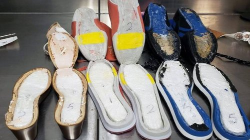 Pounds of cocaine found stuffed within shoes inside Georgia airport luggage, feds say
