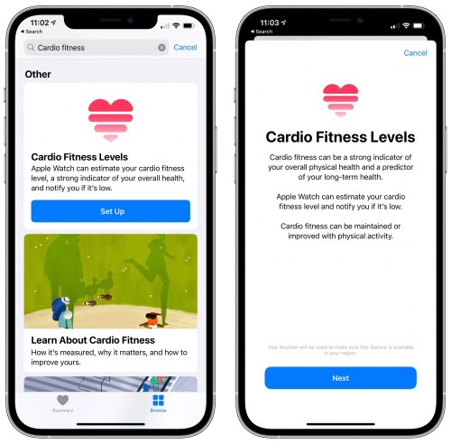 How to Set Up Cardio Fitness Levels in watchOS 7.2 and iOS 14.3