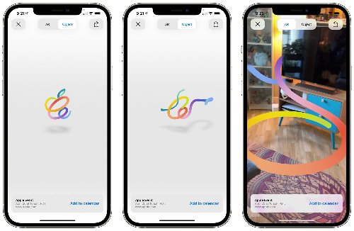 Apple's April 20 Event Page Offers Up Morphing AR Logo