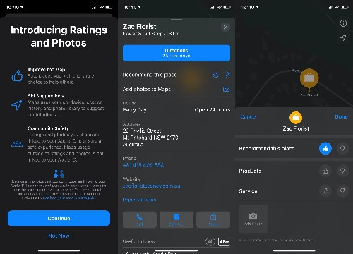 Apple Maps to Get Native Ratings System and Photo Uploads for Places of Interest
