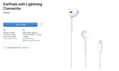 Apple Lowers Price of EarPods by $10 Now That They Aren't Included With iPhones