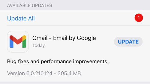 Gmail for iOS Updated for the First Time in Three Months