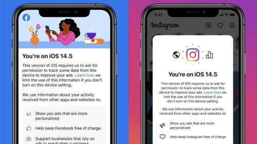 Facebook and Instagram Ask Users to Enable App Tracking in Order to Keep Services 'Free of Charge'
