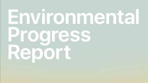 Apple Shares 2021 Environmental Progress Report