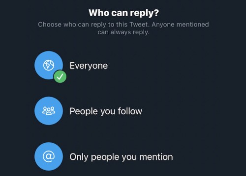 Twitter iOS App Now Lets All Users Limit Who Can Reply to Their Tweets [Update: Now Available]