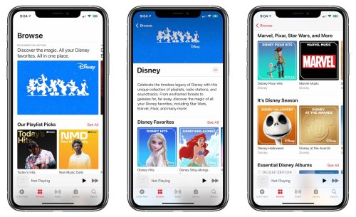 Apple Music Now Features Soundtracks and More From Disney, Marvel, Pixar, and Star Wars