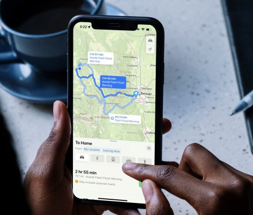 Maps in iOS 15 Now Factors Weather Warnings into Suggested Routes