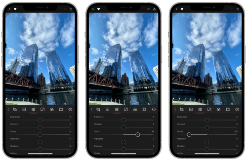 Photo Editor and Organizer Darkroom Adds New Clarity Tool