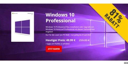 Exklusiv: Windows 10 Pro für nur 49,99 Euro