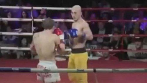 """""""Zement""""-Stil: Shaolin-Mönch zerstört Kickboxer im Ring"""